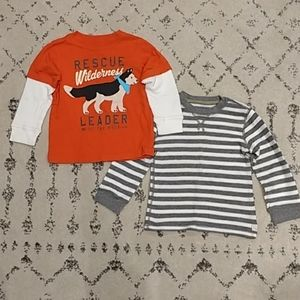 Carter's Toddler Boys Long Sleeve Shirts 3T